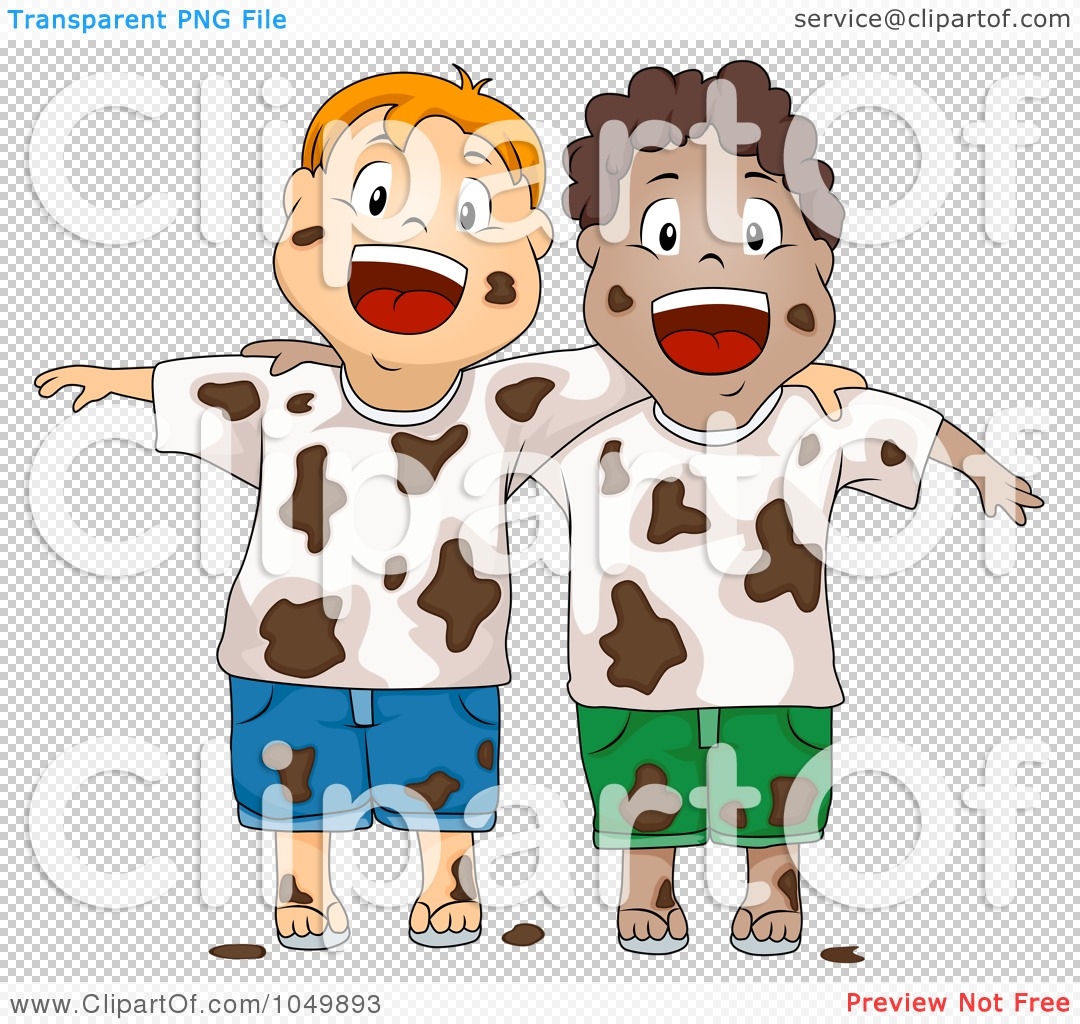 Muddy Kids Clipart