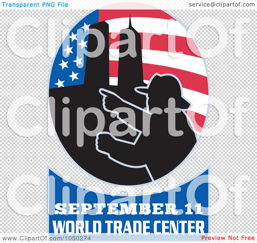 Royalty-Free (RF) Clip Art Illustration of an American Flag, Twin ...