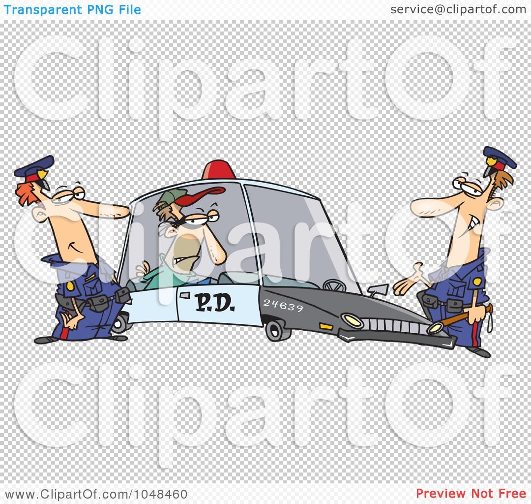 100 Vector Of A Cartoon Police Man Eating A Donut