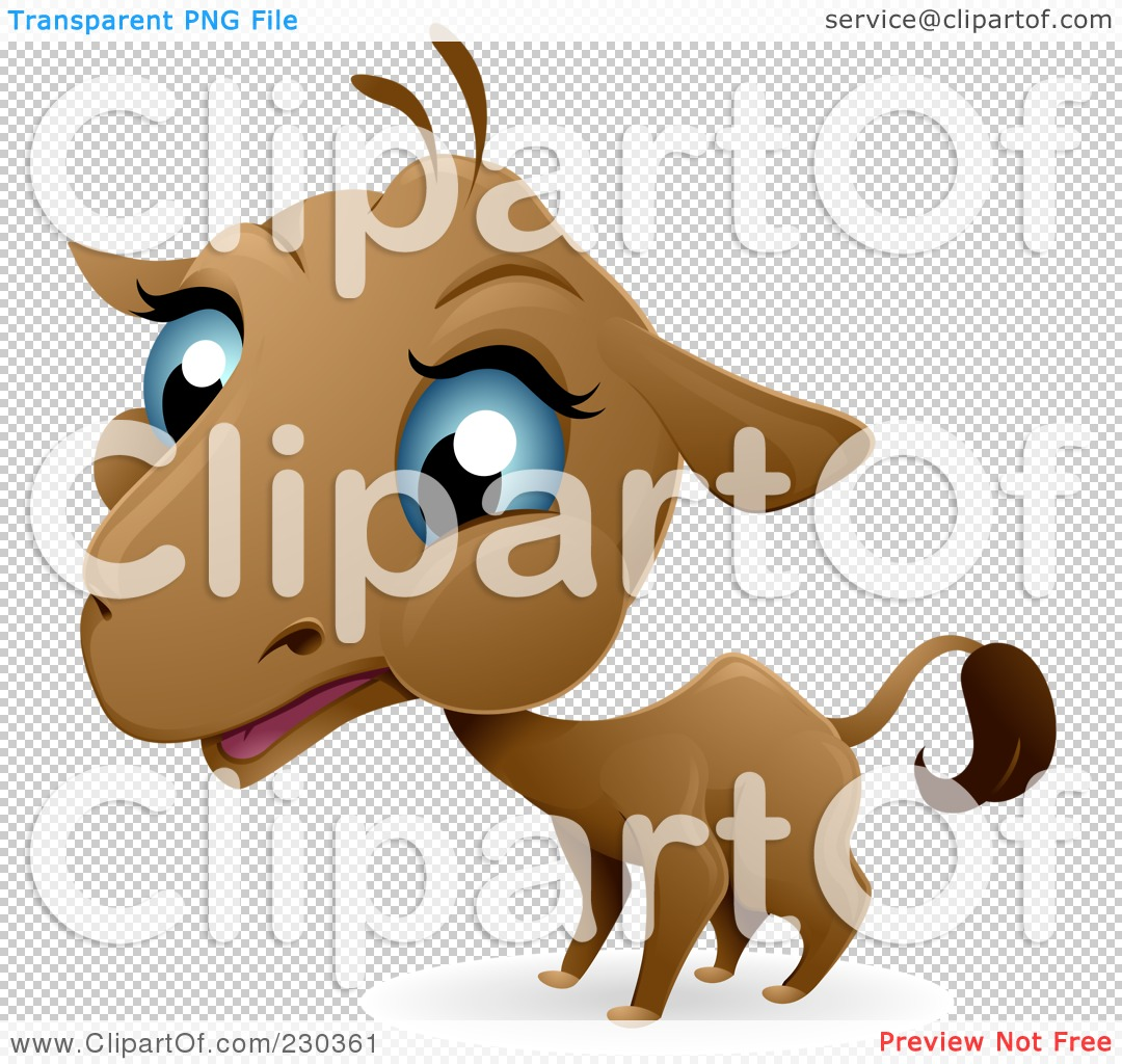 Royalty-Free (RF) Clipart Illustration of a Baby Camel With Blue ...