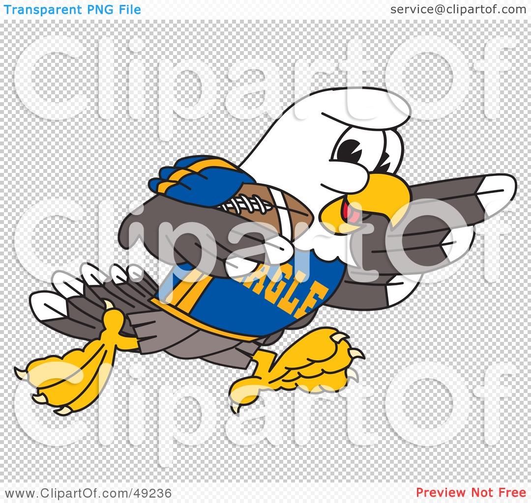 Eagle football clipart