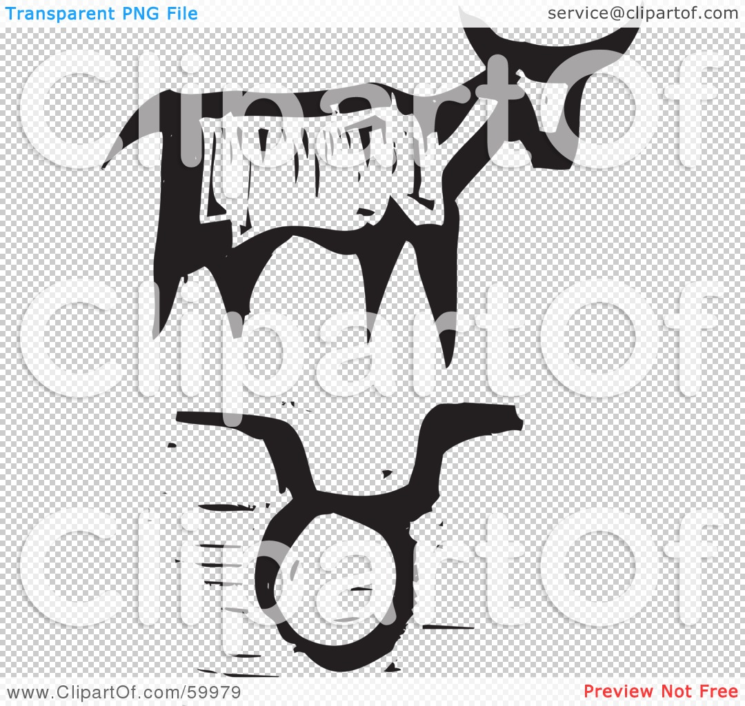 Royalty free rf clipart illustration of a black and white carved png file has a buycottarizona