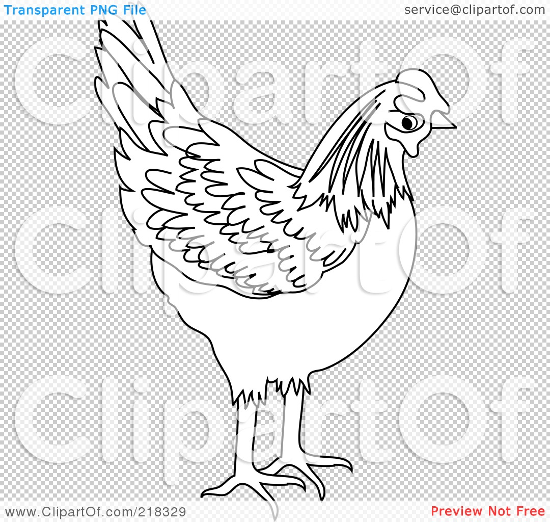 RoyaltyFree RF Yellow Chicken Clipart Illustrations