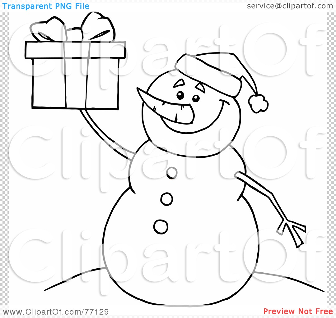 Blank Snowman Clip Art Black And White Pin set snowman and christmas