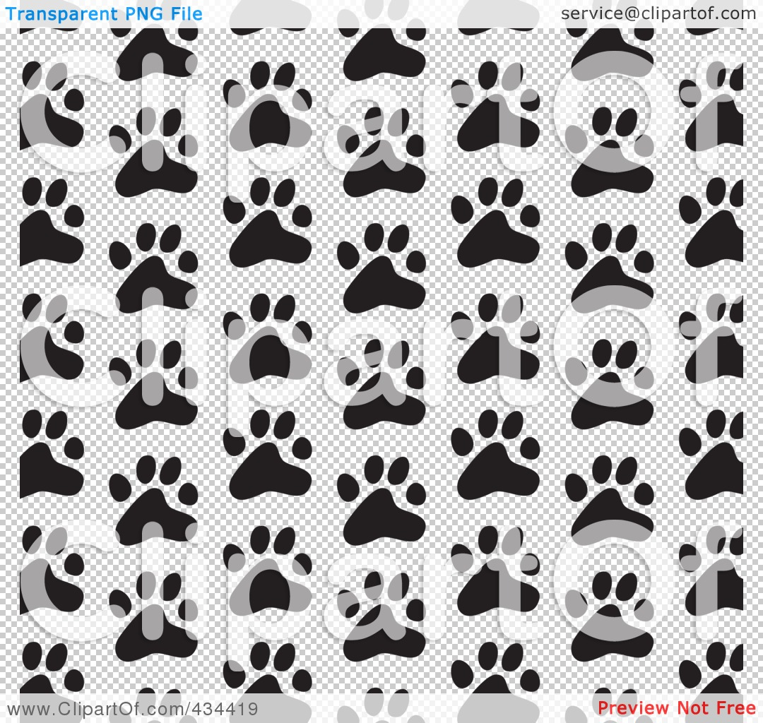royalty free rf clipart illustration of a black and white dog