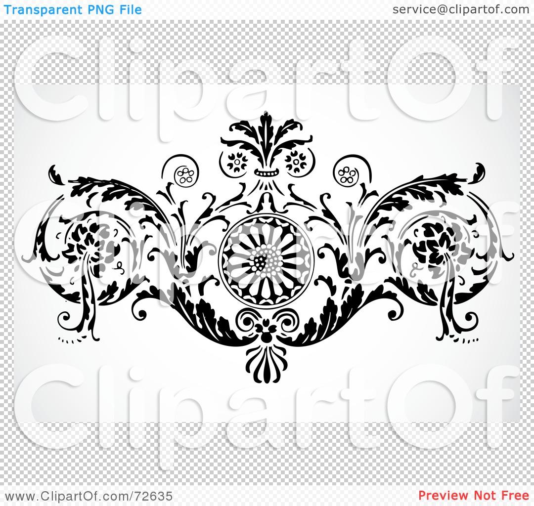 Flower Pattern Black And White Border Black And White Flower Border
