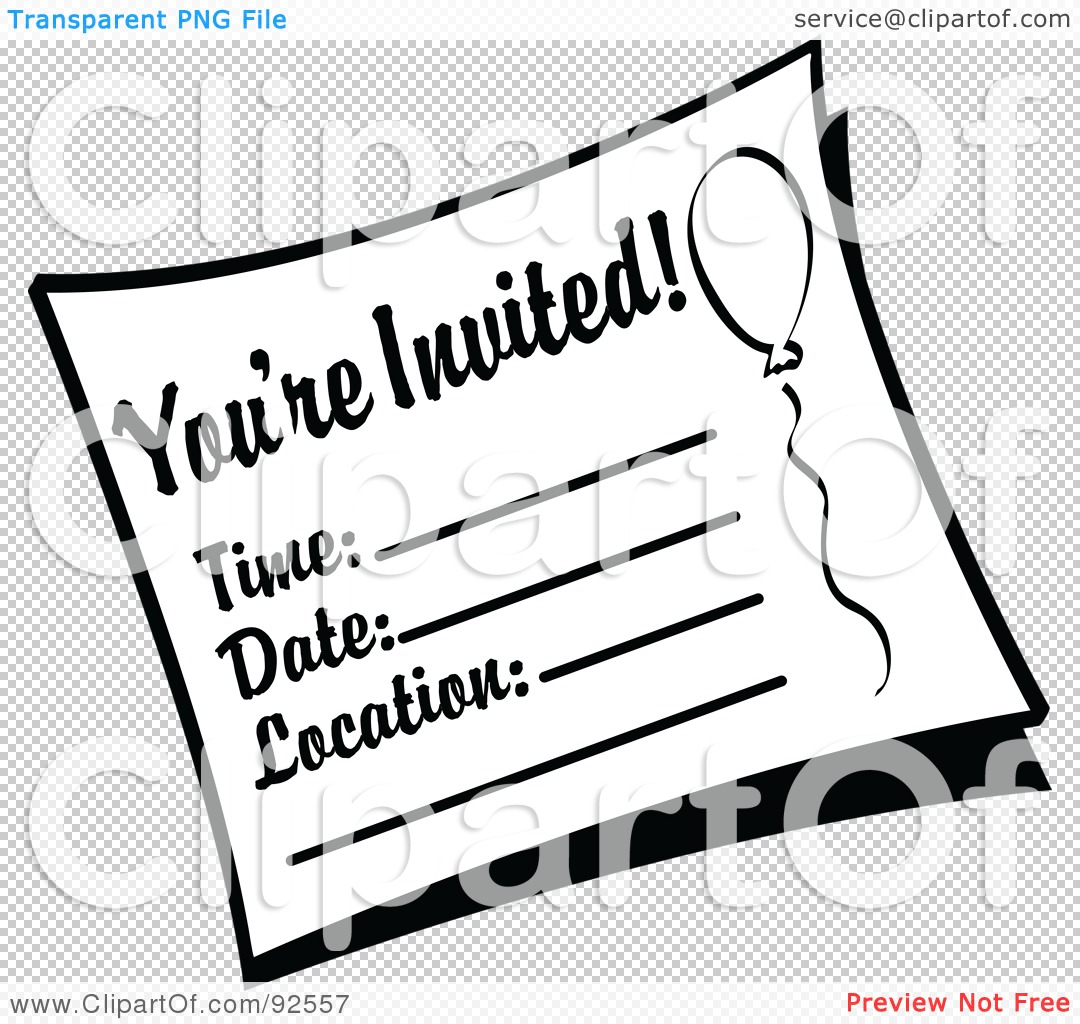 Royalty-Free (RF) Clipart Illustration of a Black And White You\'re ...
