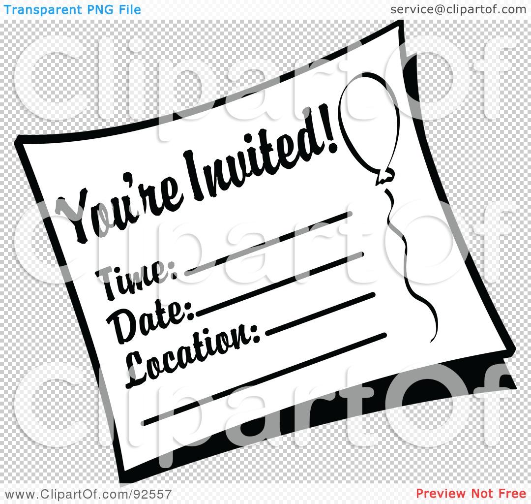 birthday party invitation clipart – Free Invitation Clipart