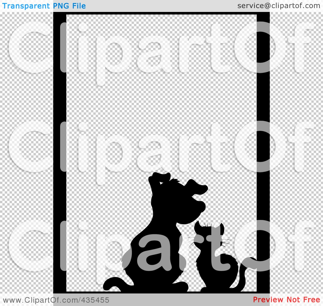 Royalty-Free (RF) Clipart Illustration of a Black Silhouette Cat ...