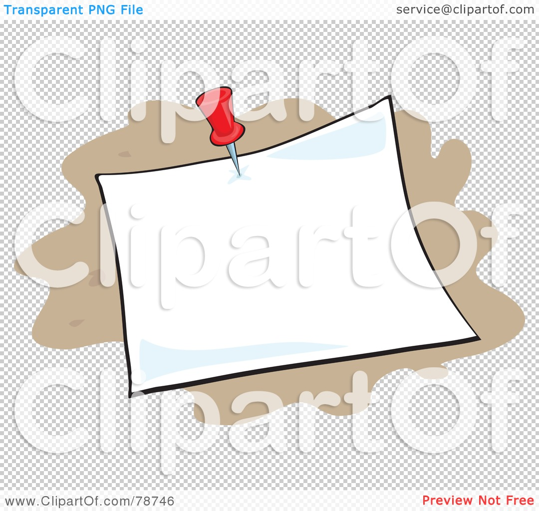 royalty rf clipart illustration of a blank pinned memo on png file has a