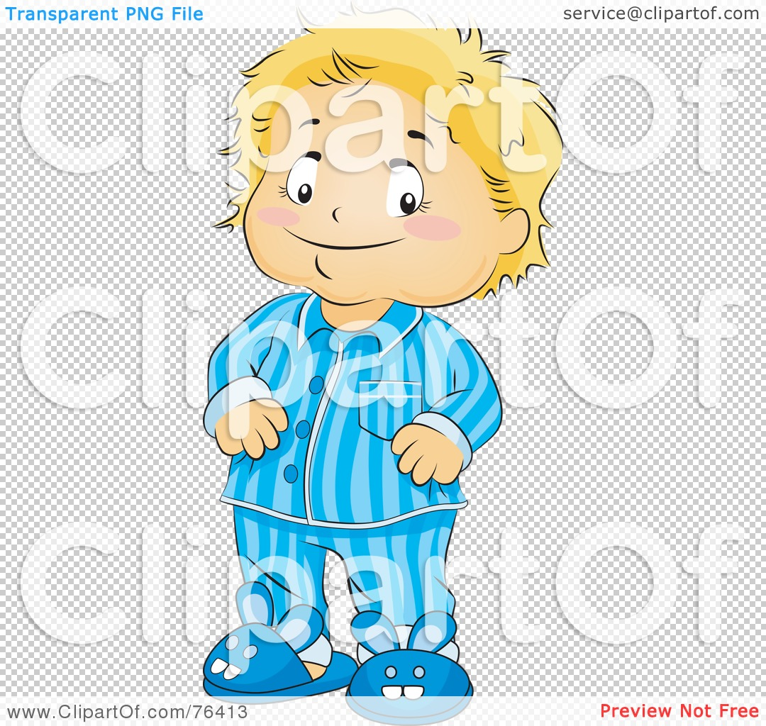 Royalty-Free (RF) Clipart Illustration of a Blond Boy In His ...