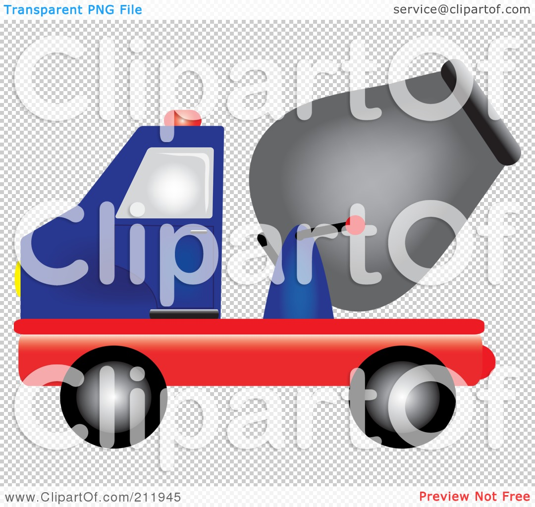 Royalty-Free (RF) Clipart Illustration of a Blue And Red Cement ...