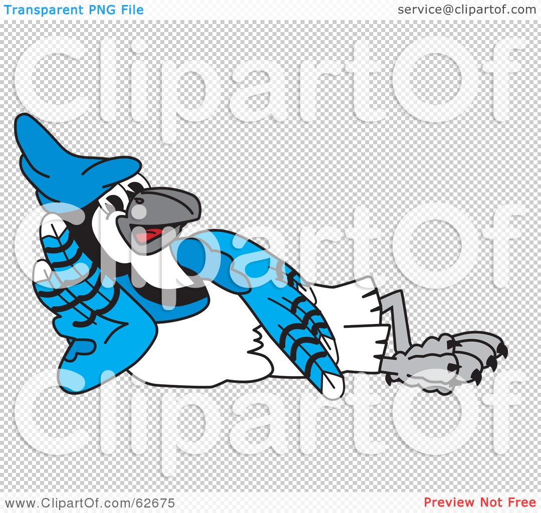 Royalty-Free (RF) Clipart Illustration of a Blue Jay Character ...