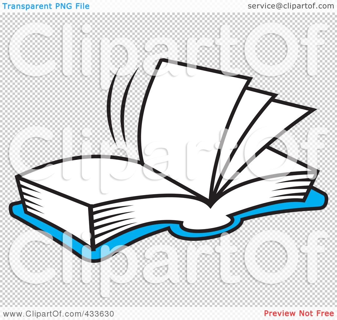 Royalty Free Rf Clipart Illustration Of A Blue Open Book