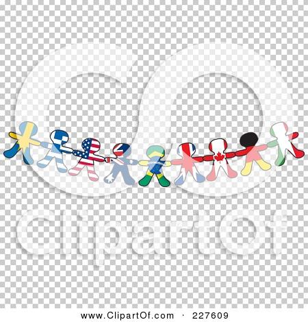 royalty free rf clipart illustration of a border of international flag