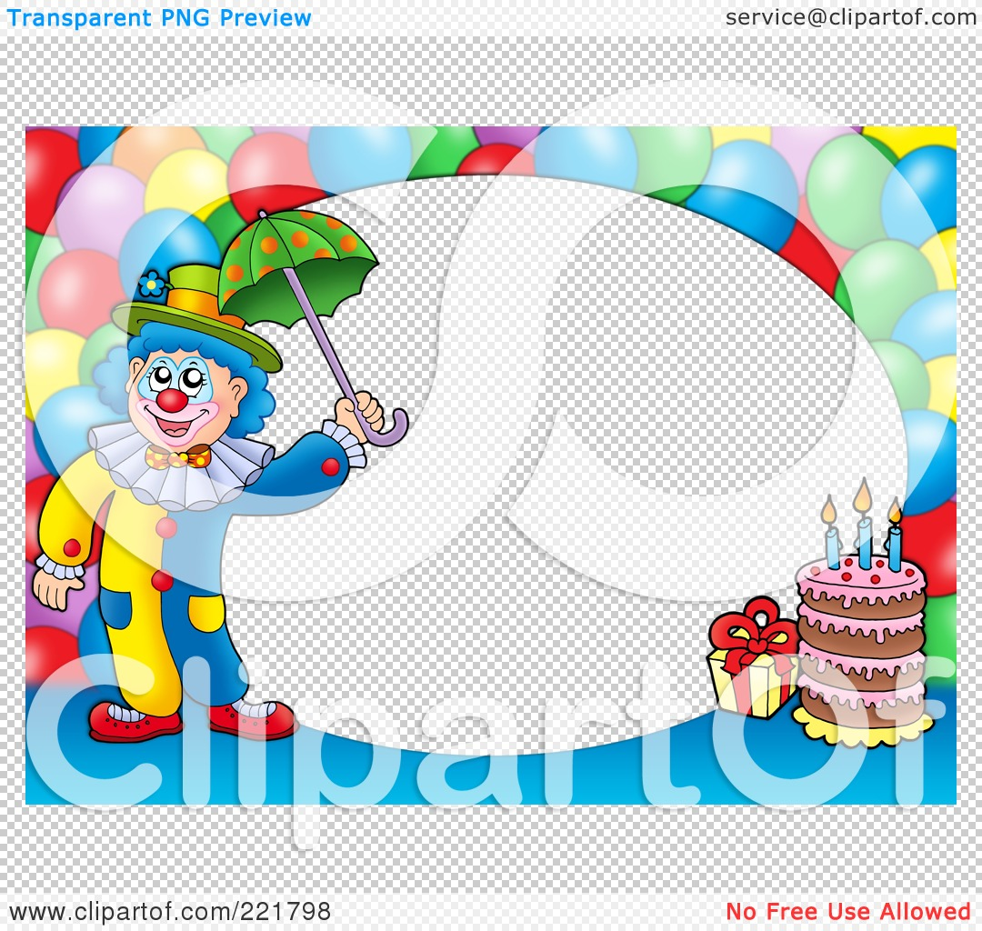 Royalty Free Rf Clipart Illustration Of A Border Of