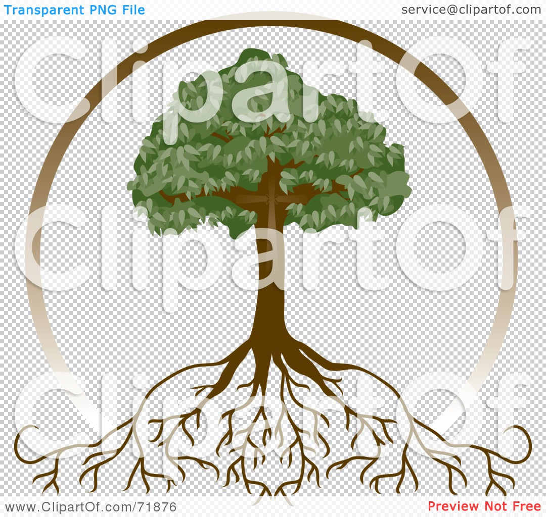 Royalty-Free (RF) Clipart Illustration of a Brown Circle Around A Mature ...