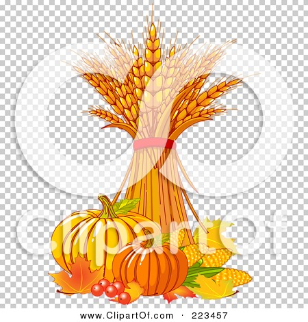 Royalty-Free (RF) Clipart Illustration of a Bundle Of Wheat With ...