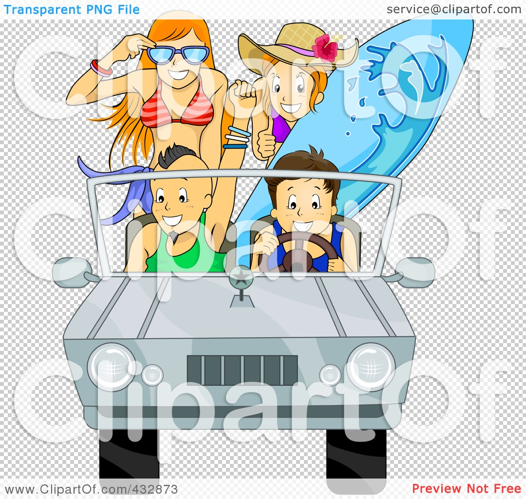 Royalty-Free (RF) Clipart Illustration of a Car Full Of ...