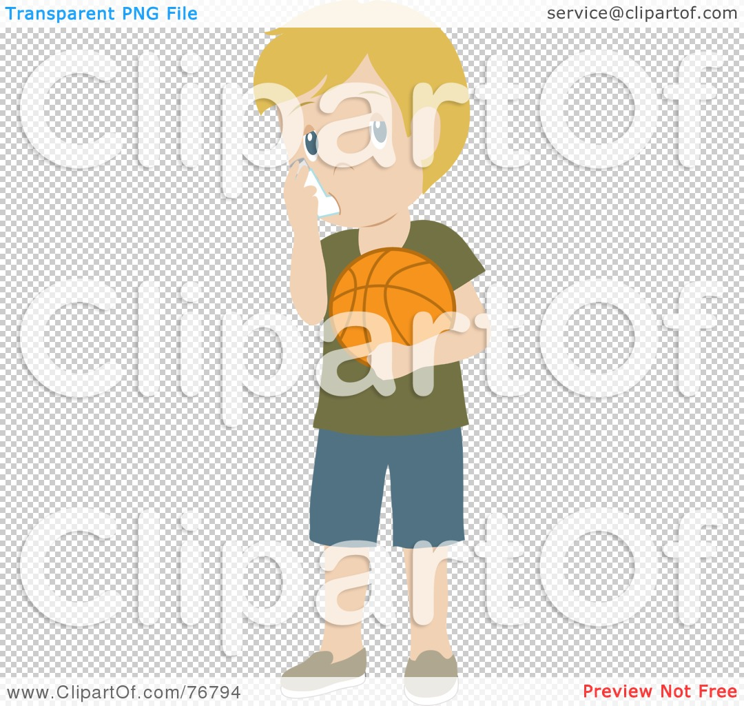 Royalty-Free (RF) Clipart Illustration of a Caucasian Boy Holding ...