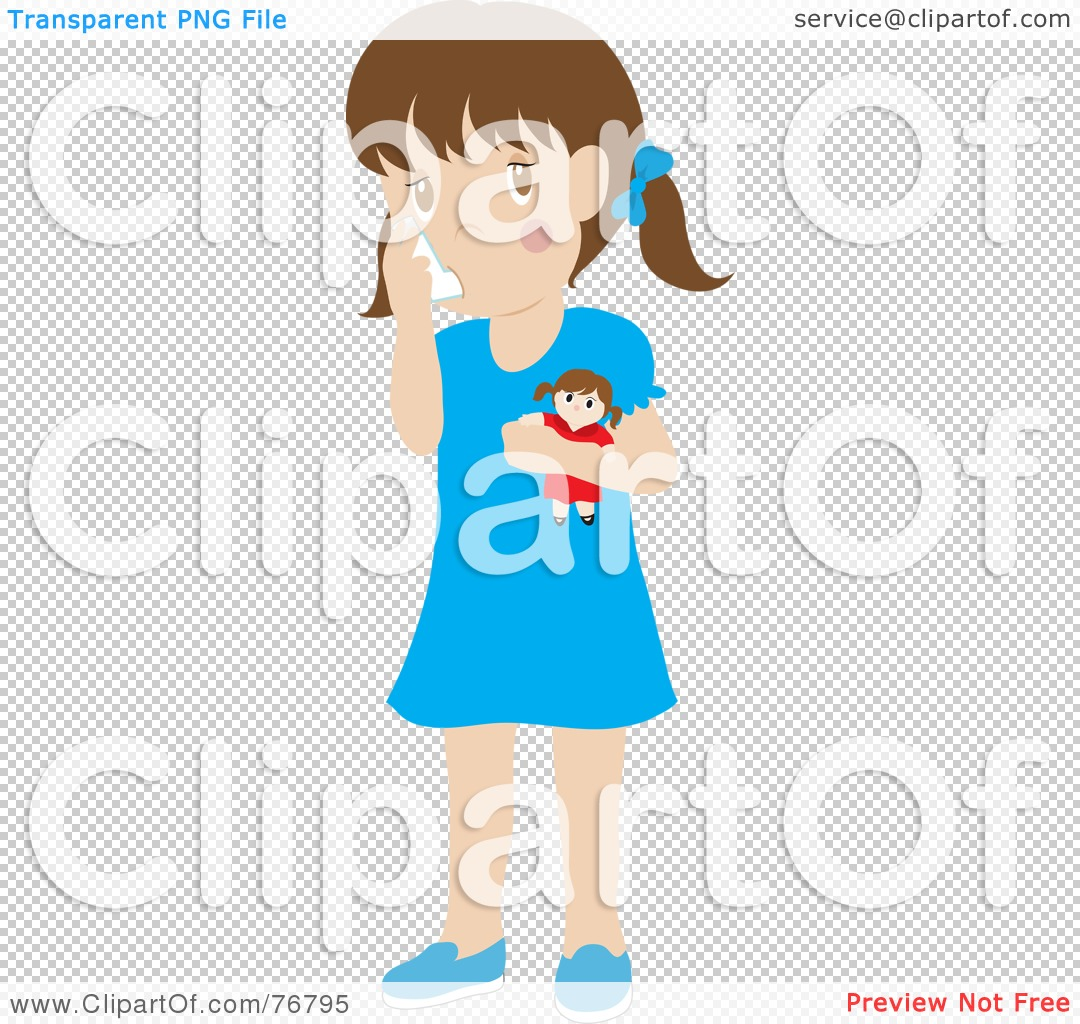 Royalty-Free (RF) Clipart Illustration of a Caucasian Girl Holding ...