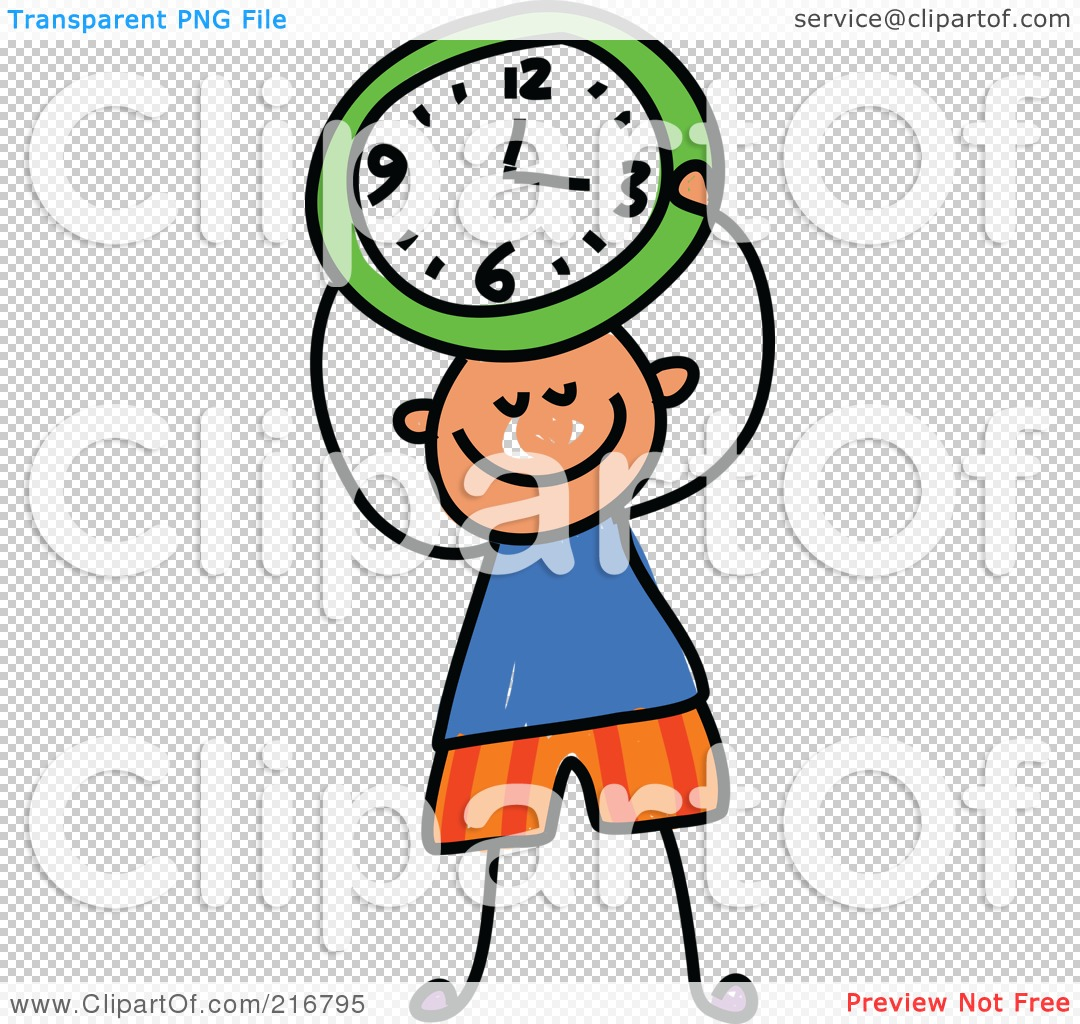 royalty free rf clipart illustration of a childs sketch of a boy rh clipartof com free clipart clocks free clip art clock face with hands