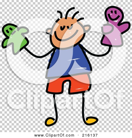 Royalty-Free (RF) Clipart Illustration of a Childs Sketch Of A Boy ...