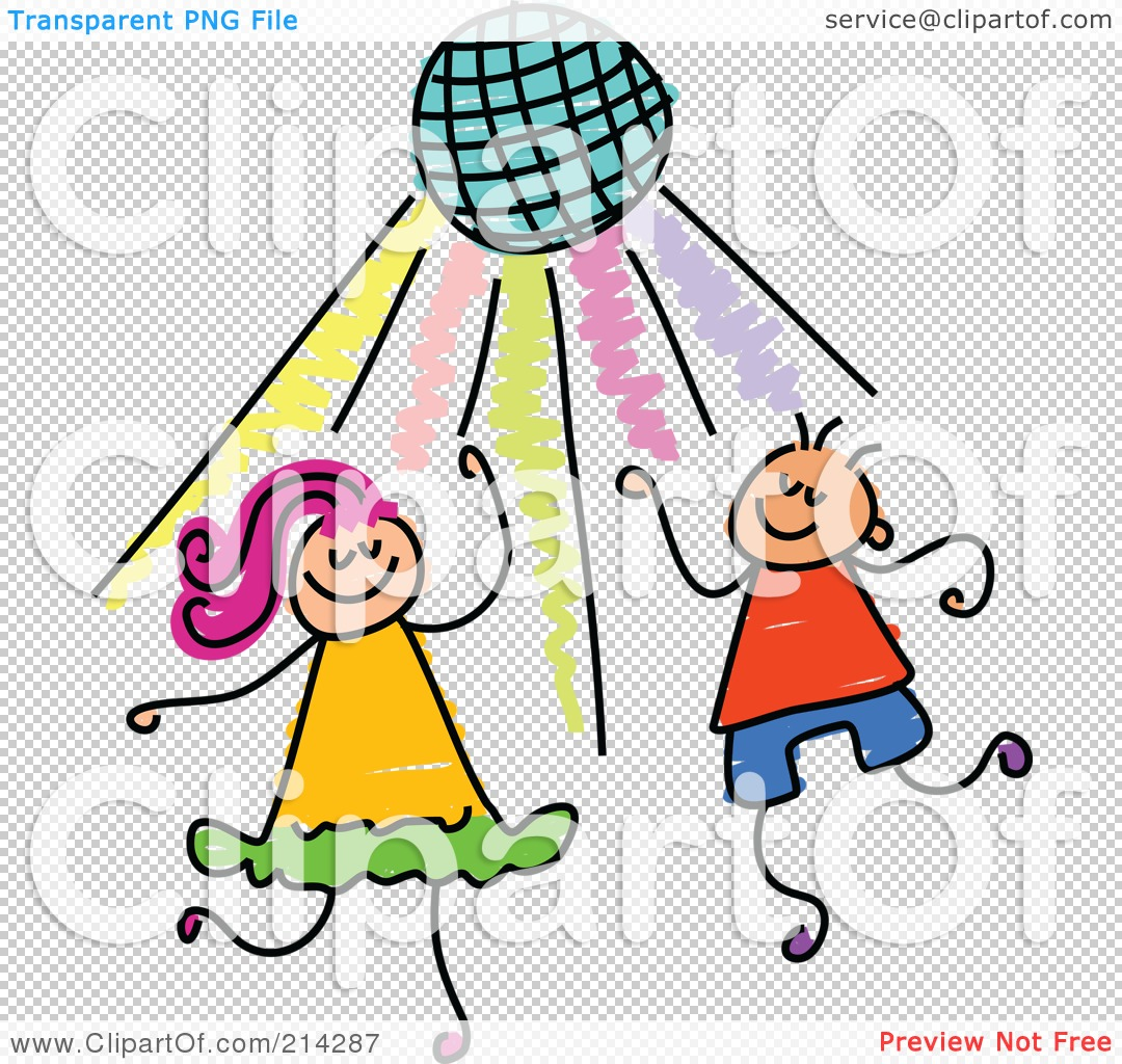 Royalty-Free (RF) Clipart Illustration of a Childs Sketch Of Kids ...