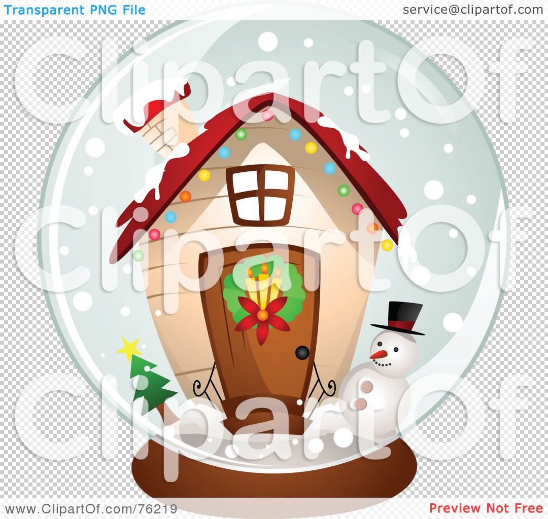 Royalty-Free (RF) Clipart Illustration of a Christmas House Snow ...