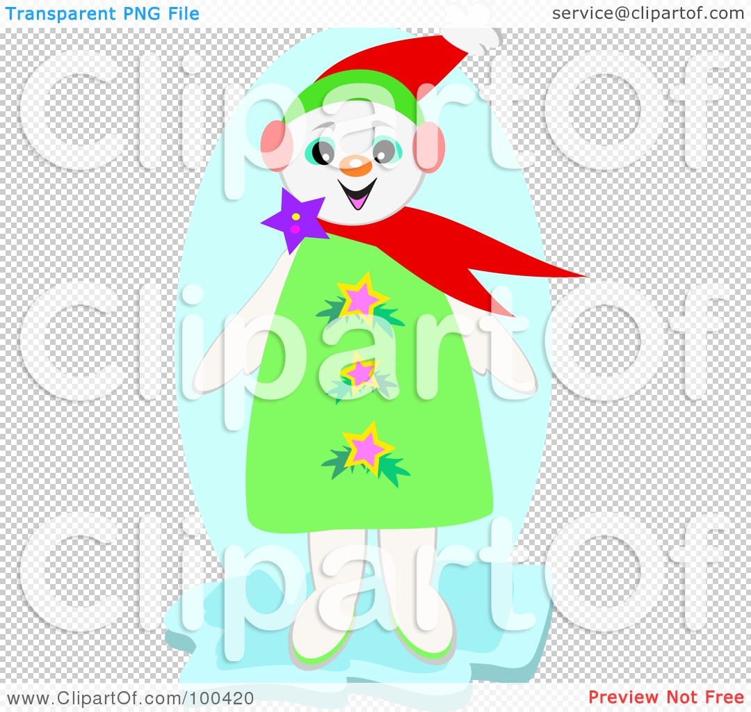 Clip Art Snowgirl PNG file has a