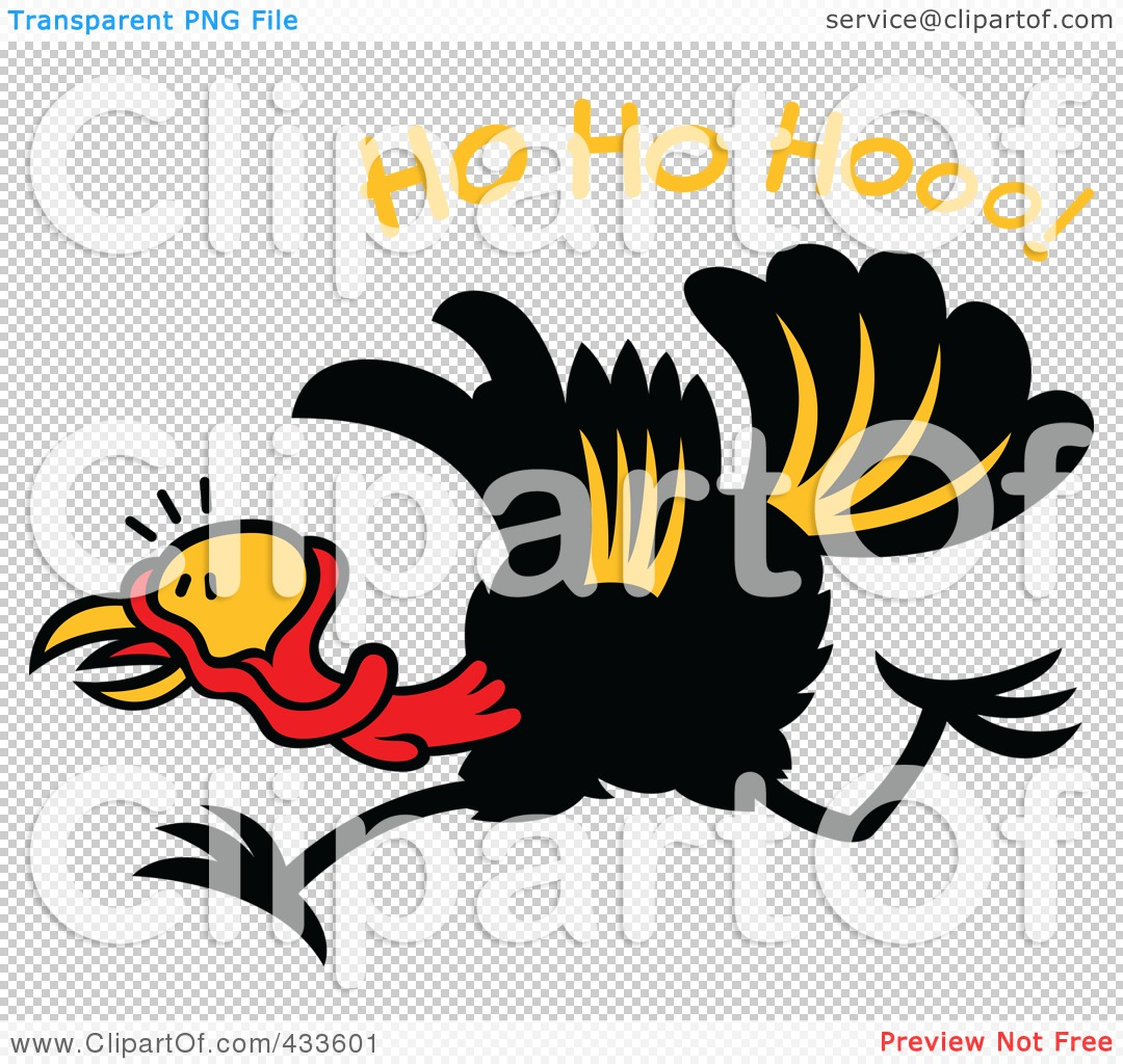 Running Turkey Clip Art http://www.clipartof.com/portfolio/zooco/illustration/christmas-turkey-running-under-ho-ho-hooo-text-433601.html