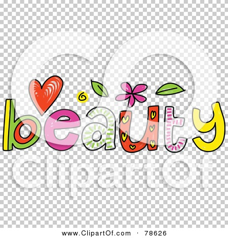 Royalty Free RF Clipart Illustration Of A Colorful Beauty Word