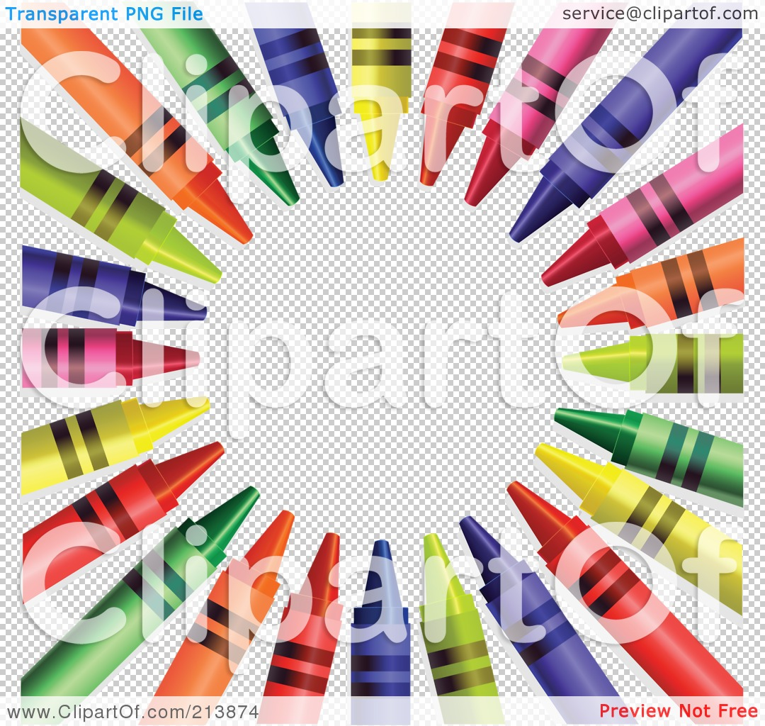 Crayon Colored Circle : Royalty free rf clipart illustration of a colorful