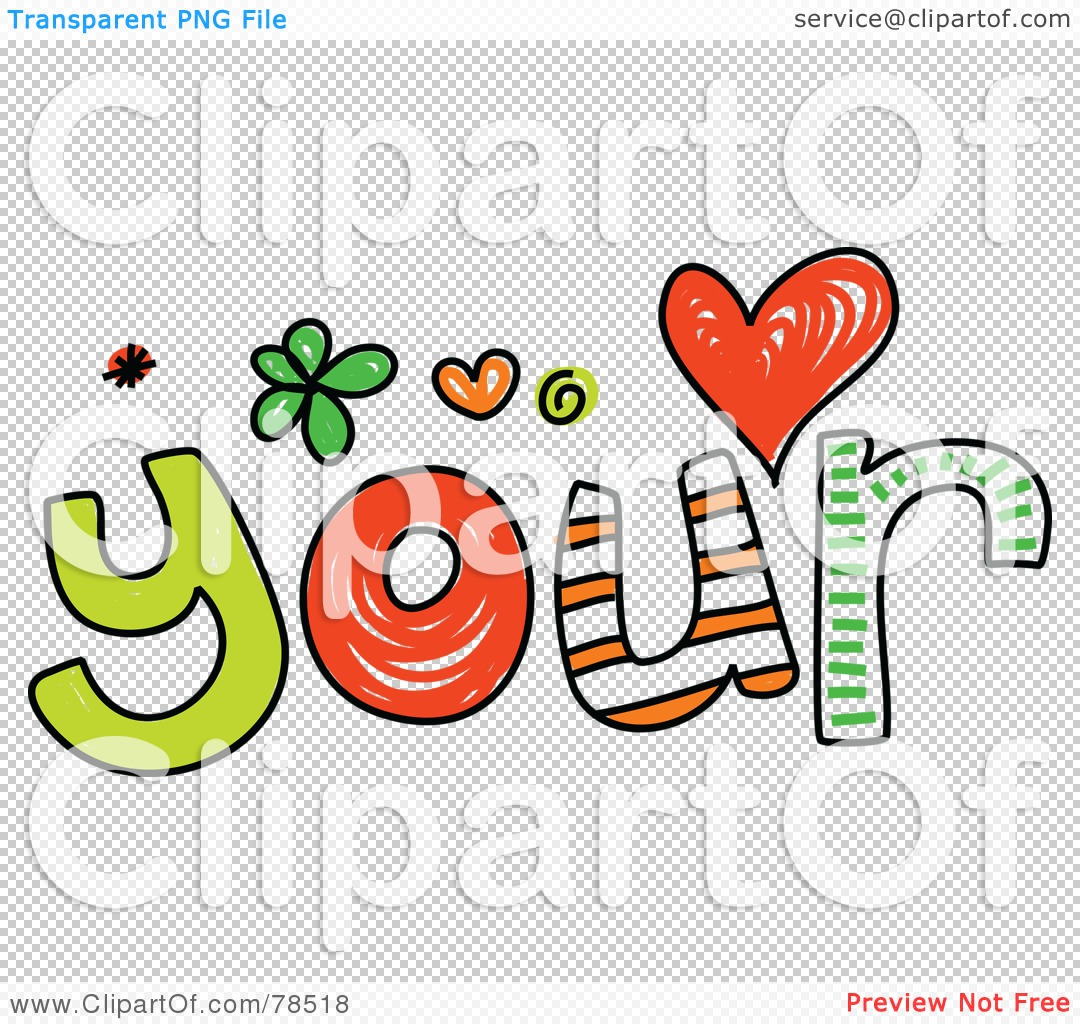 Royalty-Free (RF) Clipart Illustration of a Colorful Your Word by ...