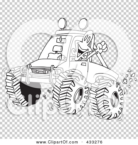 mud truck coloring pages - royalty free rf clipart illustration of a coloring page