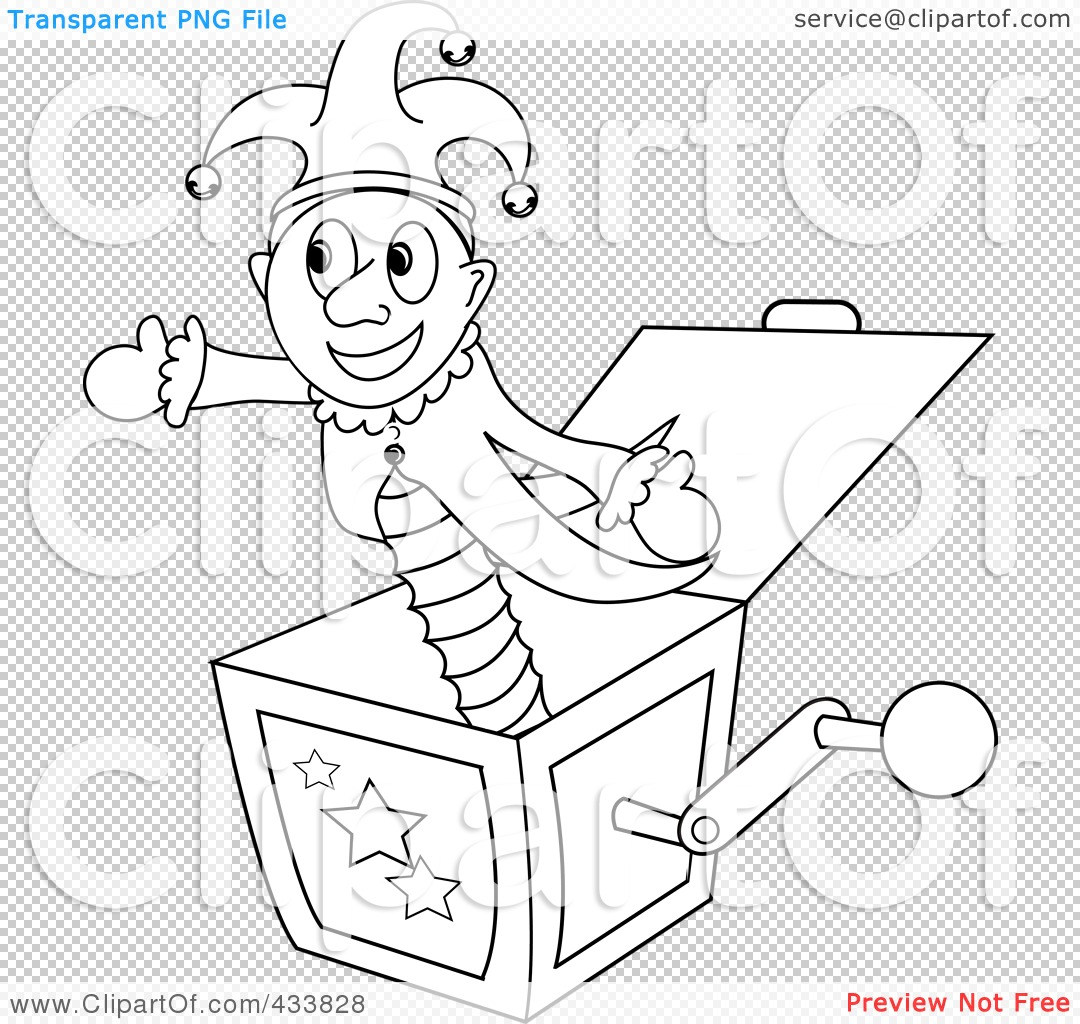 Jack in the box coloring pages
