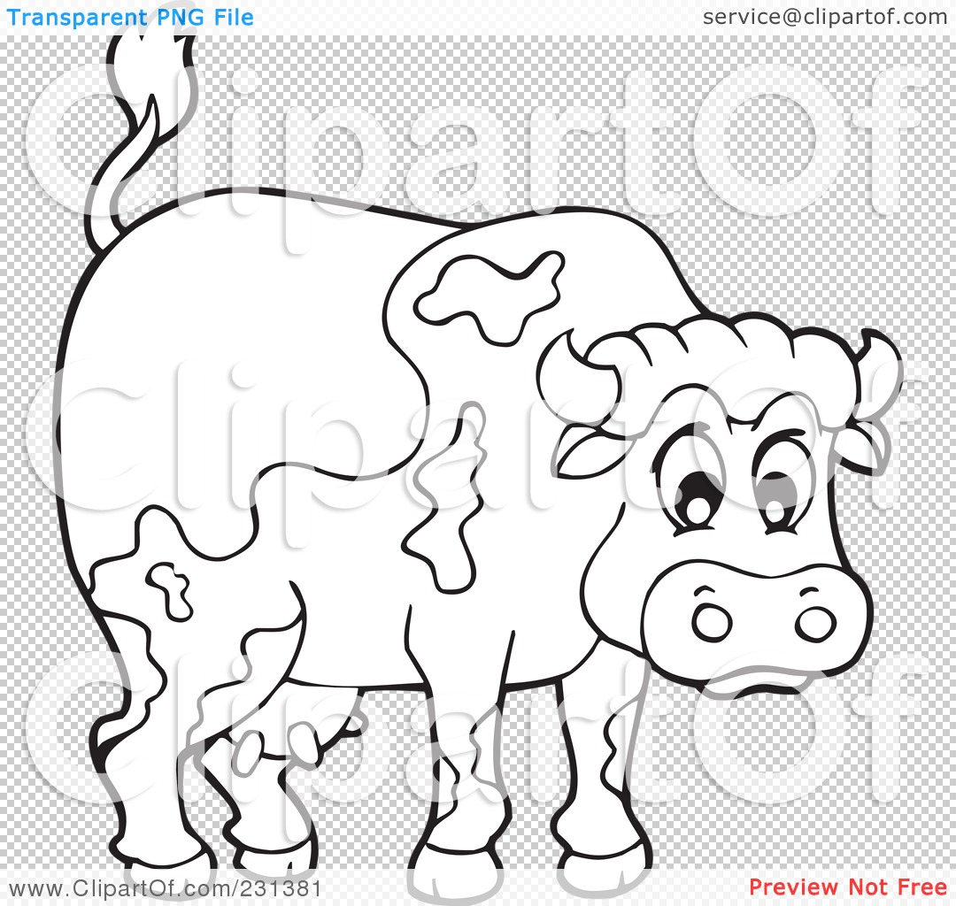 Coloring page of a barnyard - Png File Has A