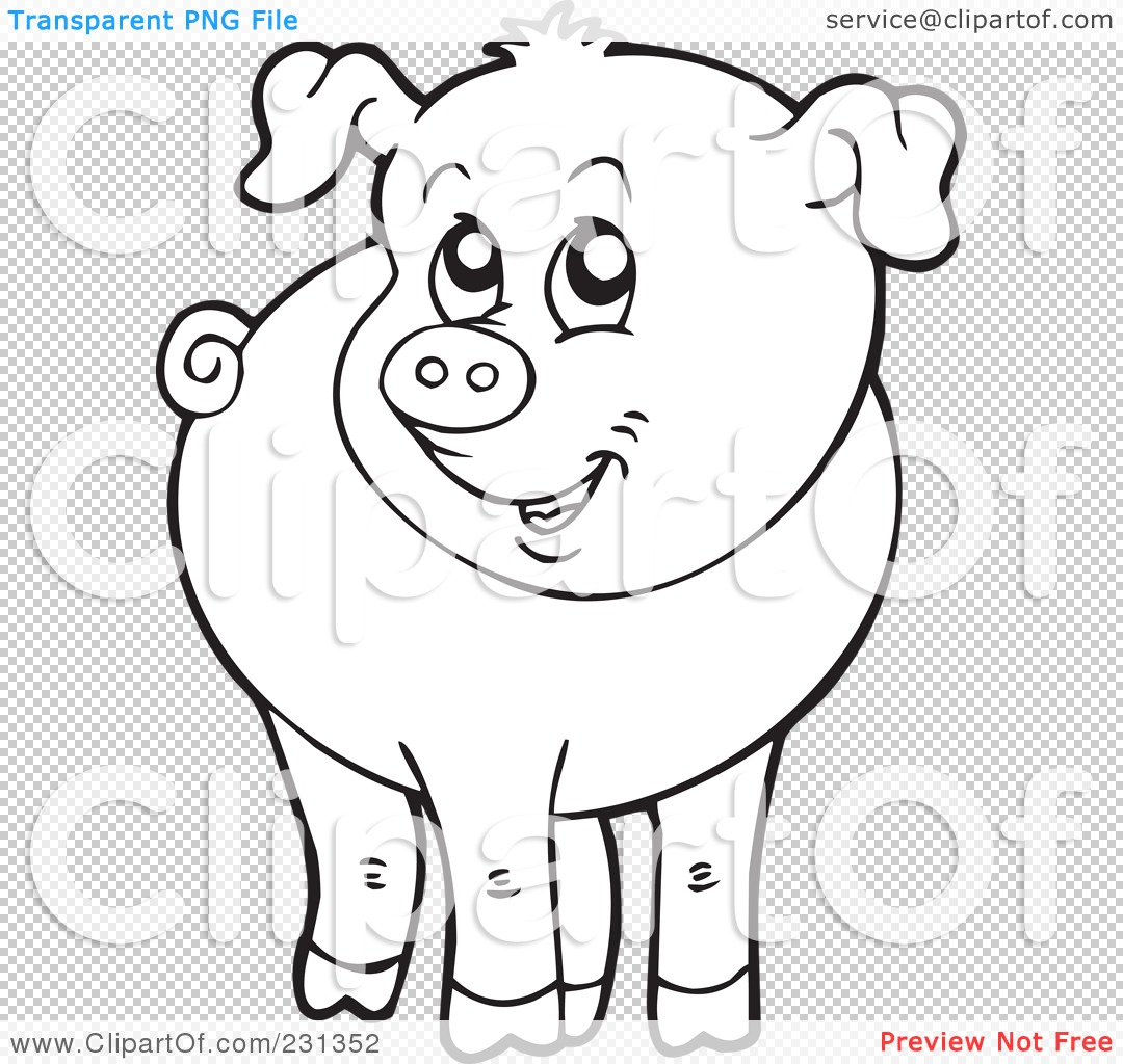 Swine coloring pic Cartoon pig color by number free printable ... | 1024x1080