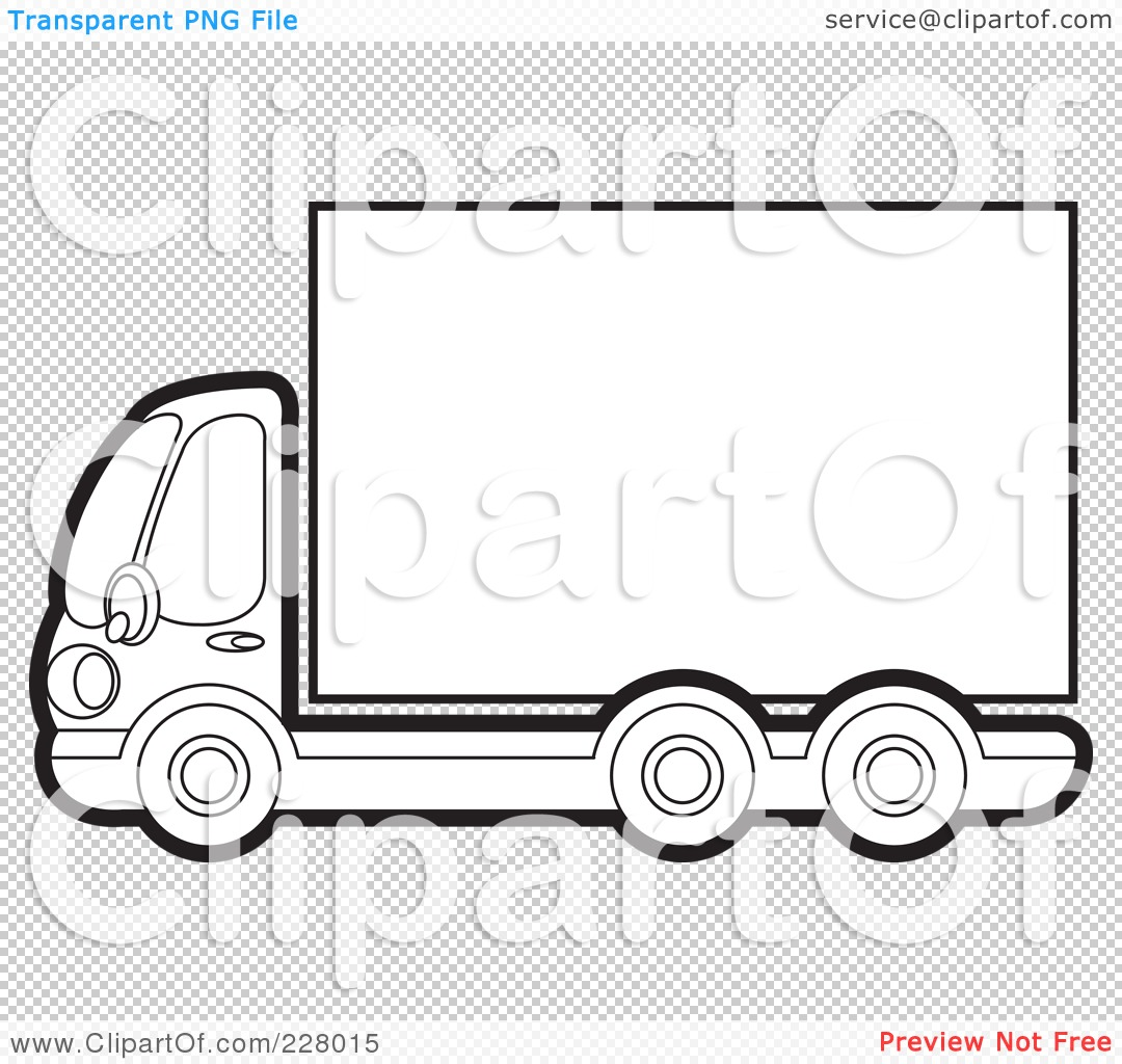 Semi Truck Trailer Coloring Pages Of a coloring page outline