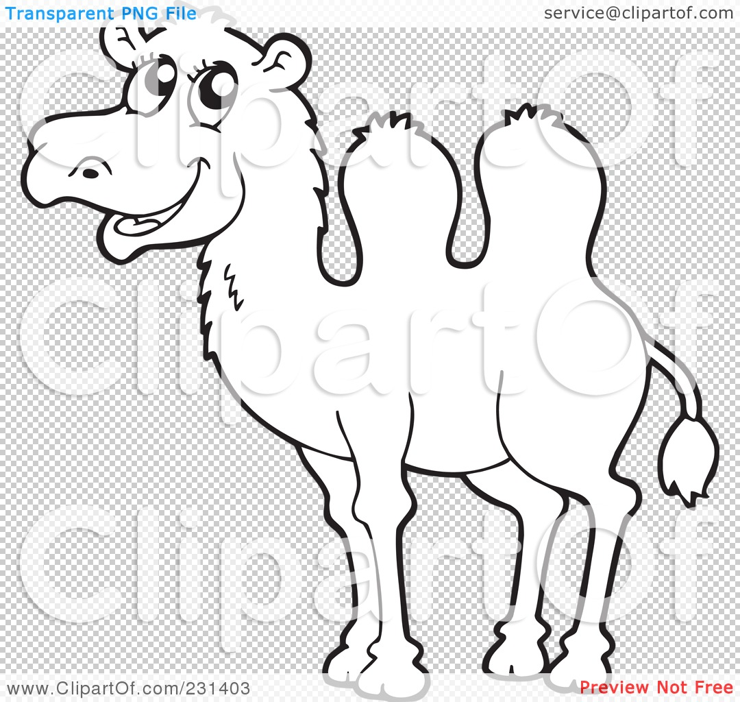 Free coloring pages camel - Png File Has A