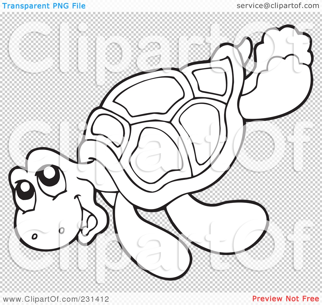 RoyaltyFree RF Clipart Illustration of a Coloring Page Outline Of