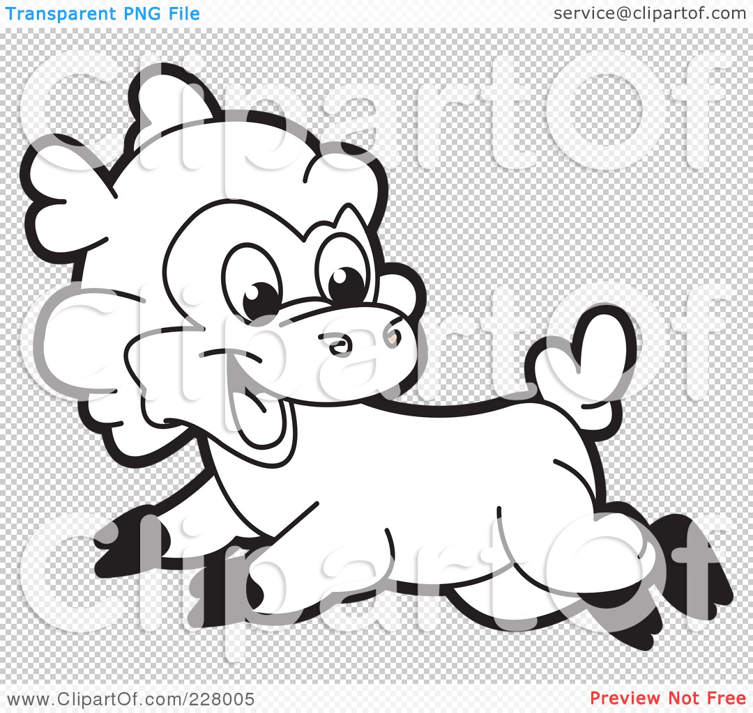 Free coloring page lamb - Png File Has A