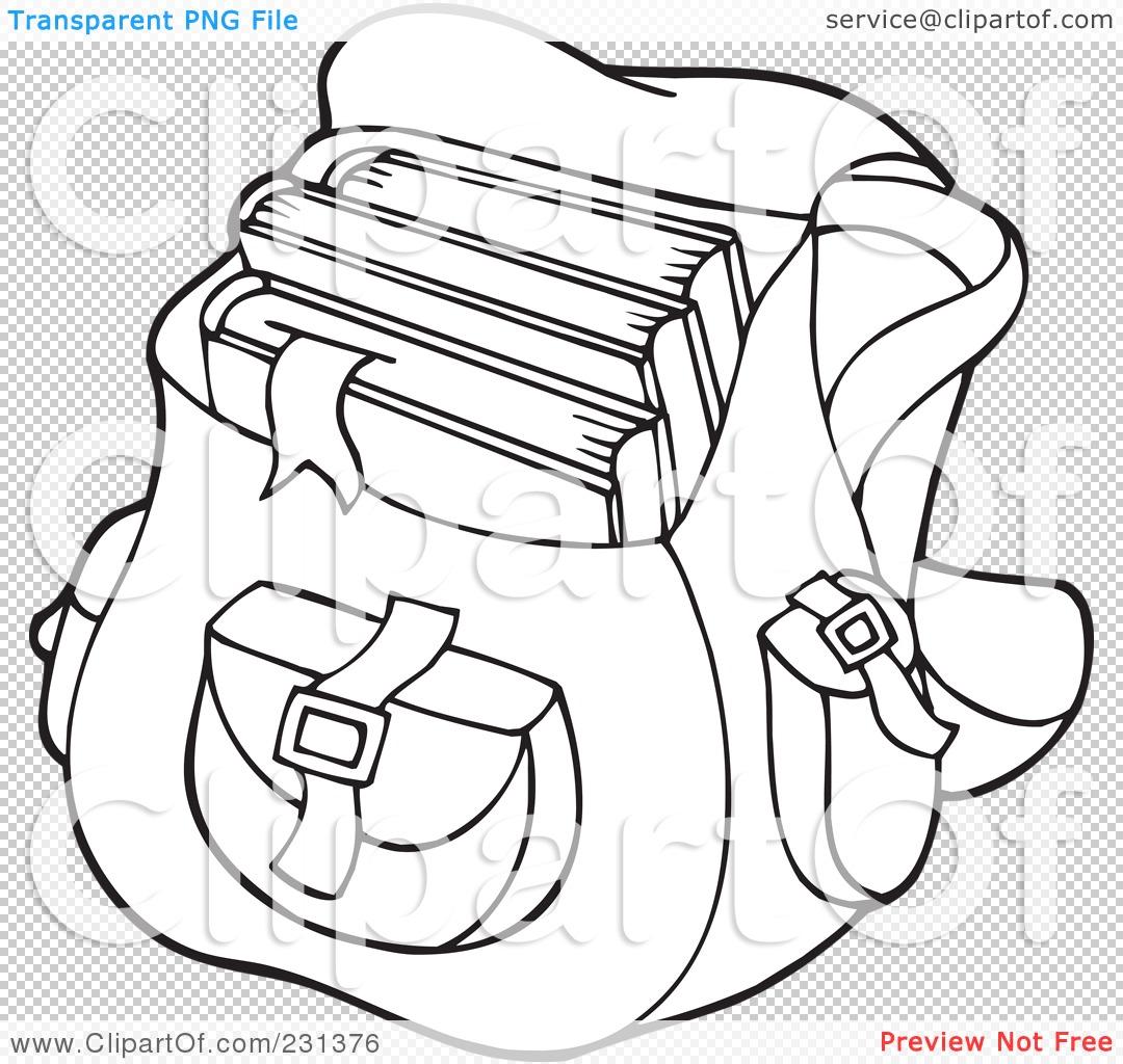 Coloring book bag - Png File Has A