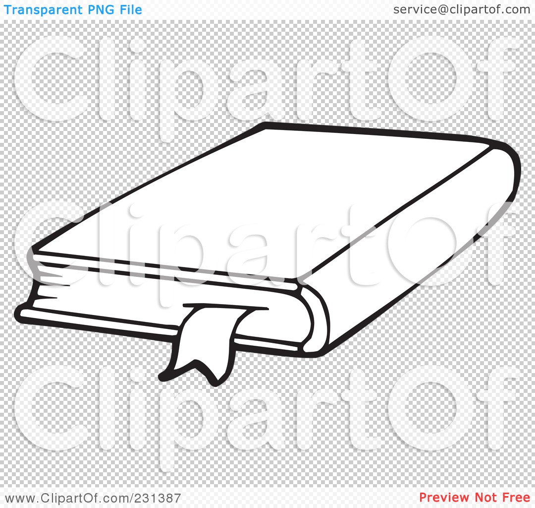 royalty-free  rf  clipart illustration of a coloring page outline of a school book