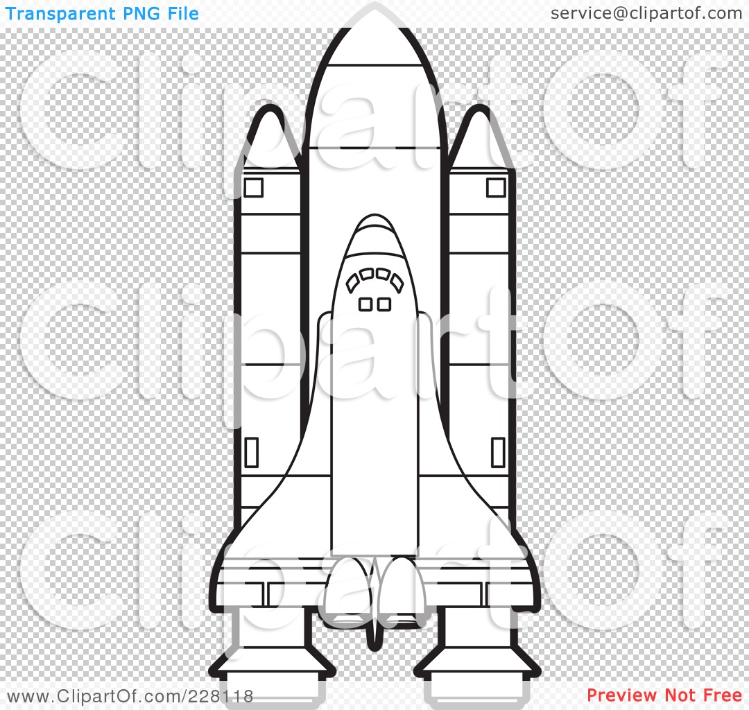 space shuttle outline printables - photo #9