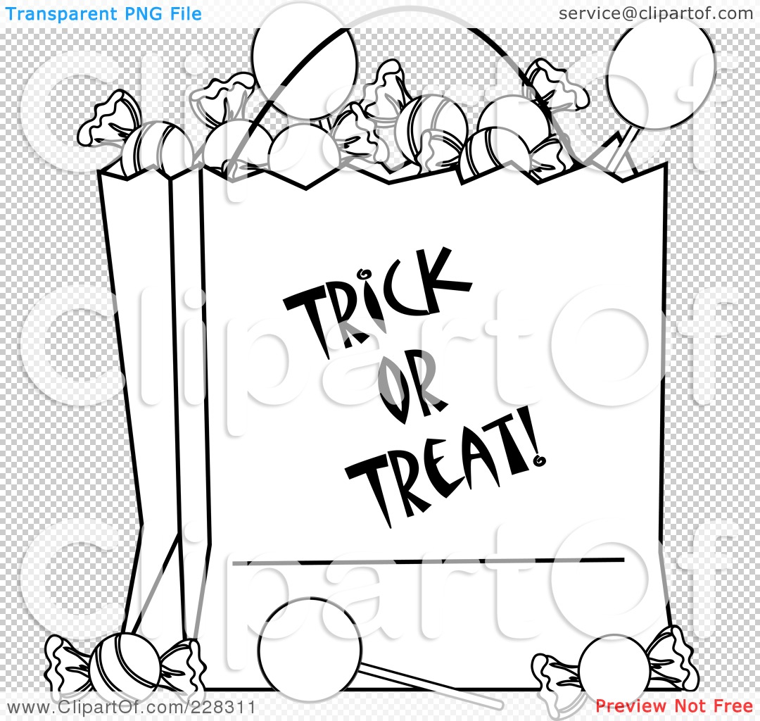 Royalty-Free (RF) Clipart Illustration of a Coloring Page Outline Of A ...