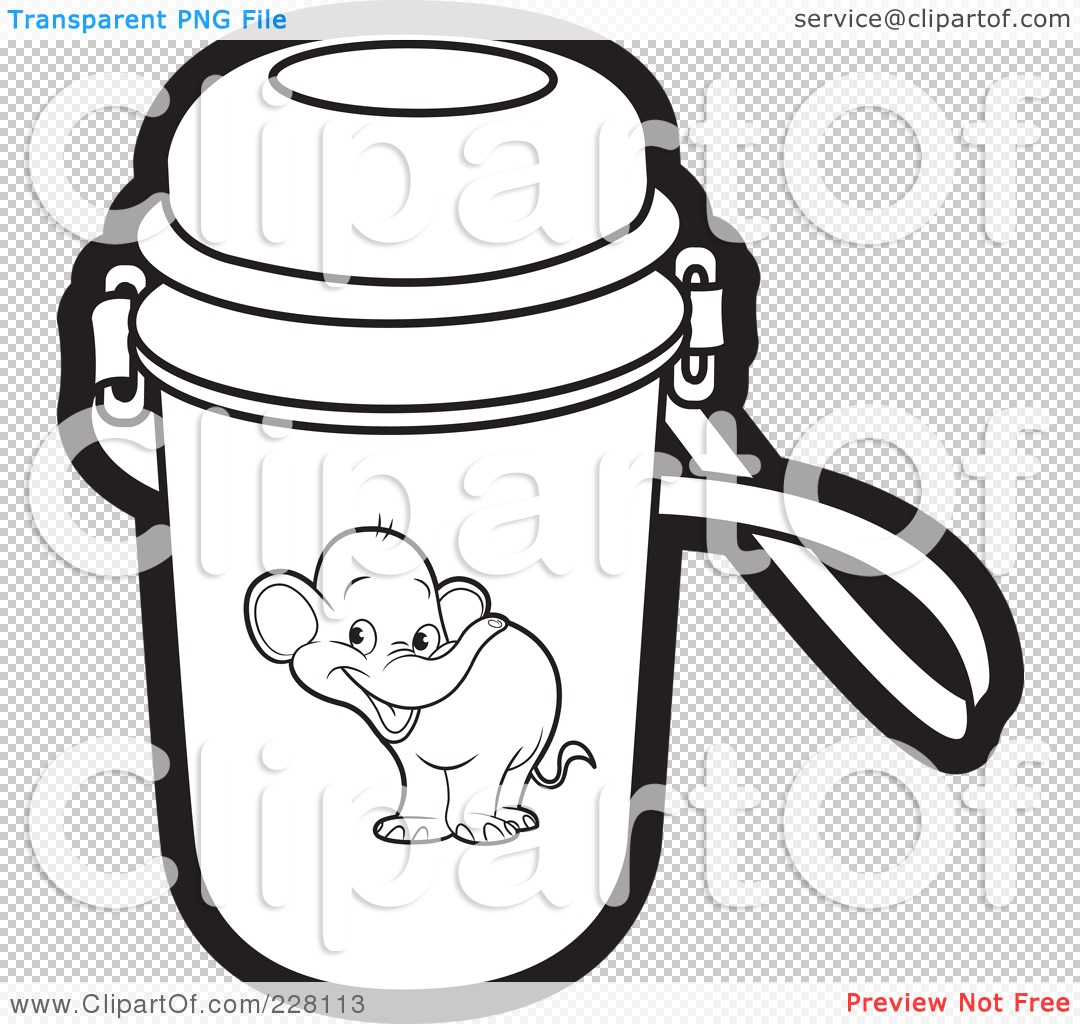 coloring book picture of bottle royalty free