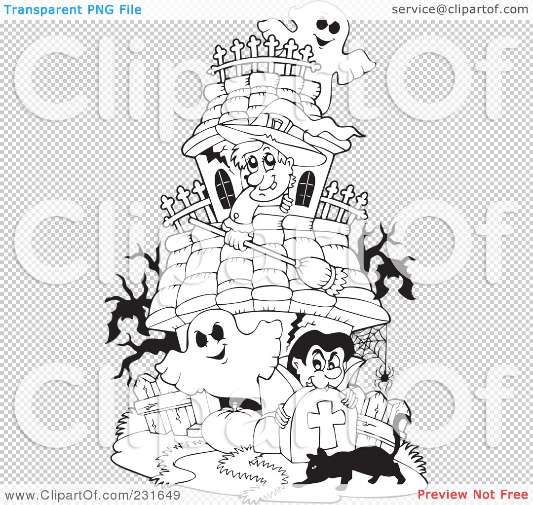 Adult Beauty Haunted Mansion Coloring Pages Gallery Images best royalty free rf clipart illustration of a coloring page outline png file has transparent background gallery images