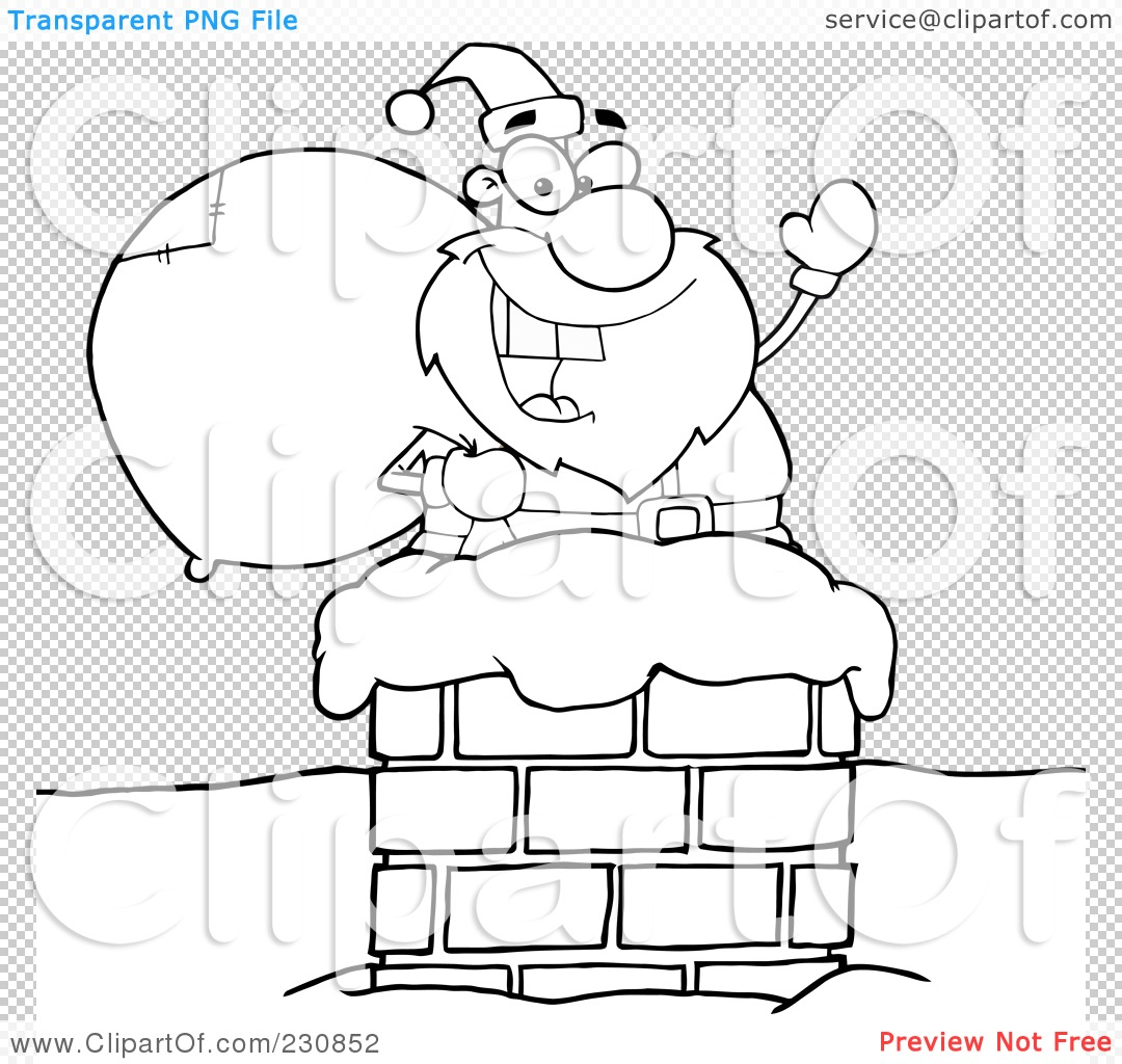 Viewing Gallery For - Santa Outline