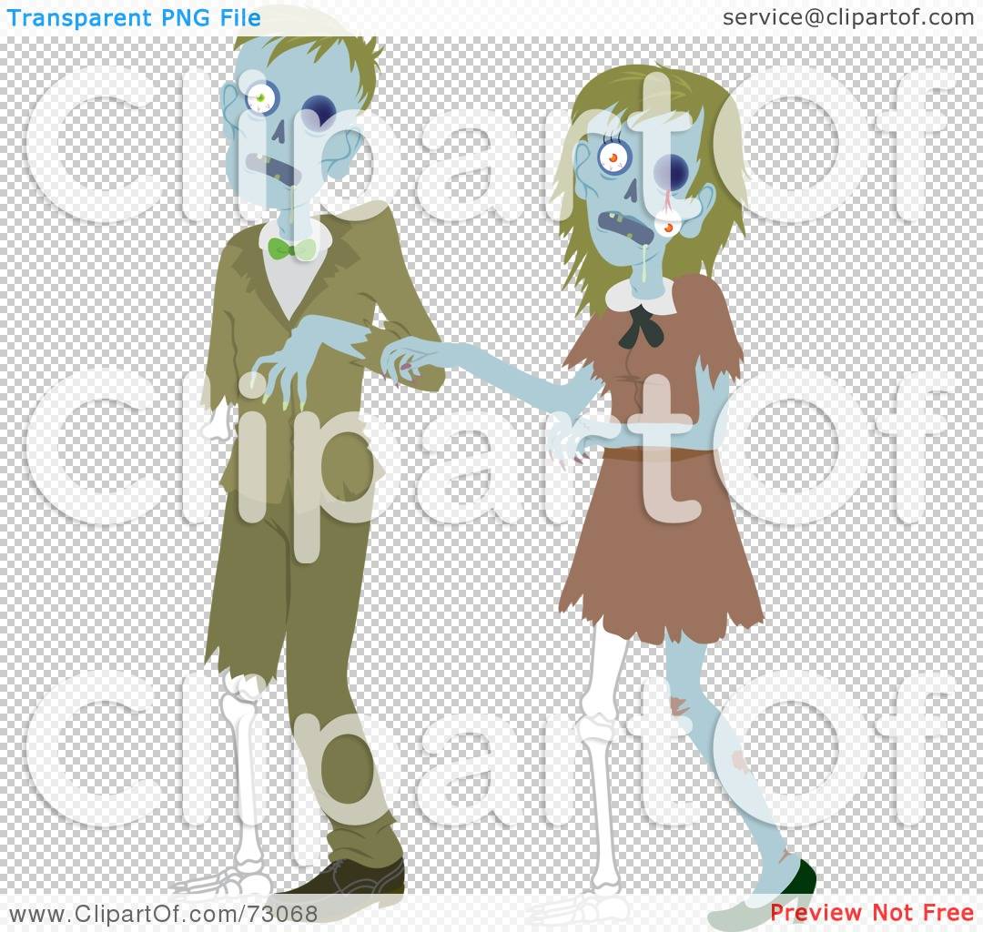 royalty free rf clipart illustration of a creepy zombie couple rh clipartof com Free Zombie Clip Art Black and White free zombie clipart images